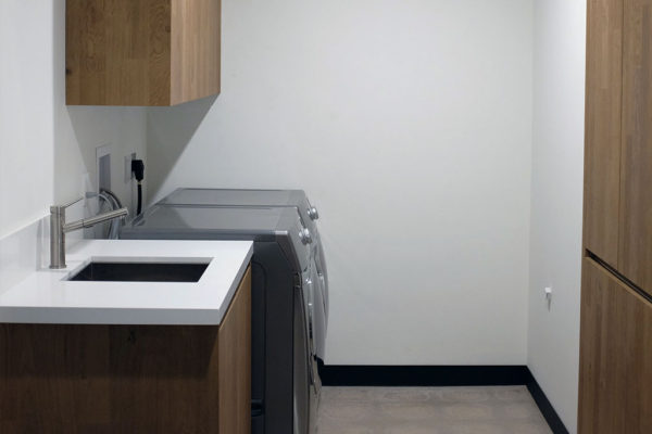 contemporary cabinets laundry room