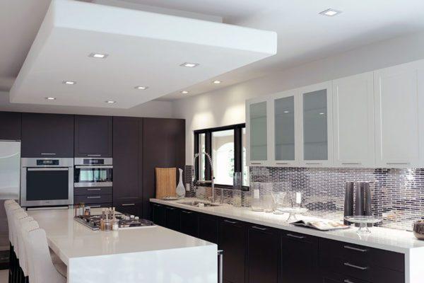 Sleek Kitchen Featuring Transitional-Style Handles