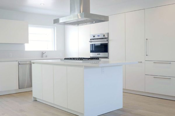 all white contemporary kitchen Los Angeles