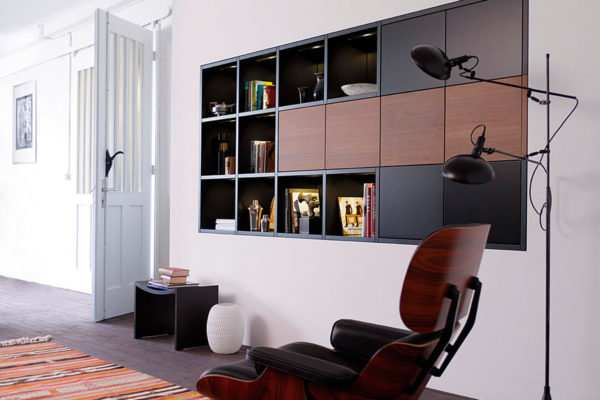 modern hole in the wall shelving