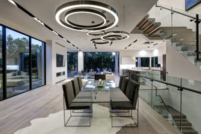 modern dining room view
