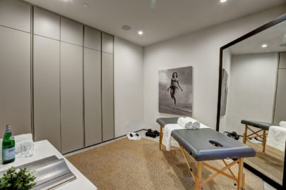modern room with masseuse table